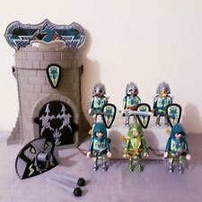 Playmobil Dragon Knights playset, cave tower, castle figures bundle, cannon
