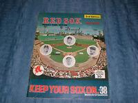VINTAGE 1975 BOSTON RED SOX OFFICIAL SCOREBOOK
