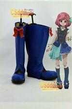 AKB0048 Nagisa Motomiya cosplay boots shoes blue