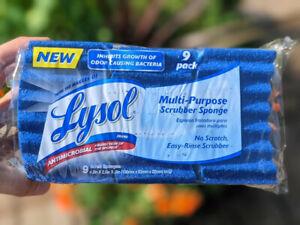 Brand - New Lysol Multi-Purpose Scrub Sponge, 9 Pack