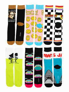 MENS UNIVERSAL JAWS E.T 6 PACK CREW SOCKS NEW!