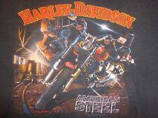 Vintage 3D Emblem Large Harley Davidson American Steel FXR Tshirt fxrt Alcons