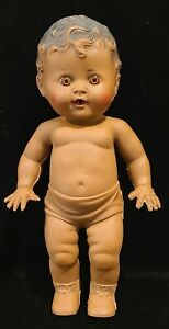 """Vintage 1950s Tod-L-Tot Sun Rubber African American Black 10"""" Doll"""