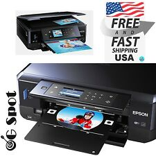 Epson Wireless Inkjet All-In-One Photo Scanner Copier Printer-Printable CD DVD