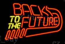 "New Back To the Future Arcade Pinball Game Room Neon Sign 17""x14"""