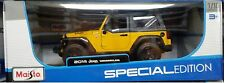 2014 Jeep Wrangler SUV Truck Die-cast Car 1:18 Maisto 9 inches Yellow