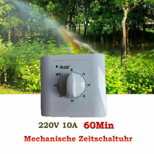 60Min Wall Mechanical Roast Timer Countdown Switch Control Rotating Dial Kitchen