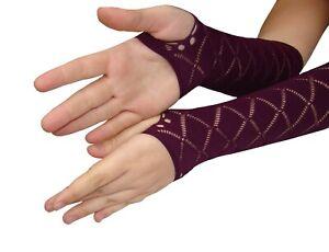 Netz Arm Stulpen Ellen Bogen finger frei lila magenta Fibrotex
