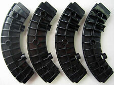 Plastic Tinker Toys Parts Lot: 4 Large Black Wheel Segments Replacement Pieces