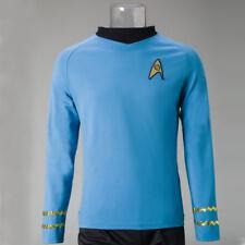 Cosplay Star Trek TOS Captain Kirk Shirt Uniform Costume Blue Men's Shirt New