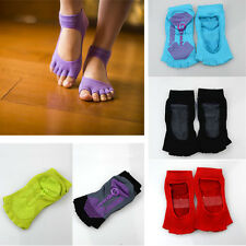 Stylish Non Slip Half Toe Ankle Yoga Dance Excercise Pilates Socks Massage Sock