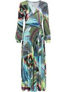 Neu Kleid in Wickeloptik 964194 in Flamingopink 36//38