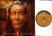 """MORTIIS decadent and desperate (numbered limited poster bag) 7"""" PS EX/EX MOSH306"""