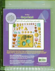 Quilled Creations Quilling Work Board 38 SHAPE Husking Template Board w/instruct