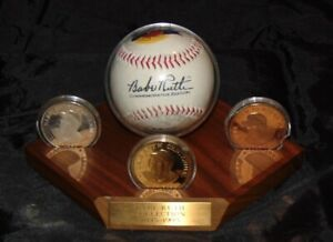 BABE RUTH NY YANKEES COMMEMORATIVE 100TH ANNIVERSARY 999 SILVER ROUND COIN