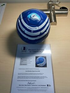 Rare Autographed David Beckham soccer ball on rare ball from DB academy with COA