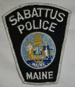 Embroidered Uniform Patch  SABATTUS POLICE Maine State Logo #2