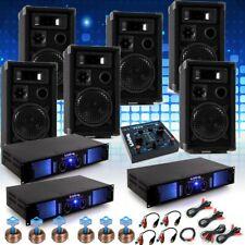 PA System Fastnacht Karnevalswagen 6x Boxen 3x Verstärker USB Mixer Big Light