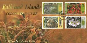 FALKLAND ISLANDS 2012 COLOUR IN NATURE 1ST SERIES  FIRST DAY COVER PORT STANLEY