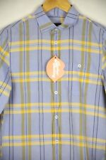 Mens Armani Exchange Shirt Long Manche Slim Fit Chambray Check XS Very Good p29