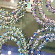 6mm Facettierte Kristall Glasperlen Hochwertig glänzend DIY Schmuck Basteln