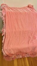 Bella Notte Loulah Ruffle Silk Velvet Queen Coverlet Pink RARE And Retired $1600