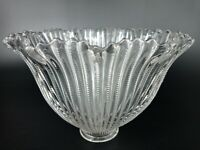 """Vintage Light Shade Holophane Glass Lamp Antique Replacement Ribbed  2"""" Fitter"""