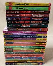Lot of 25 R. L STINE Children's Chapter Books 14 GOOSEBUMPS 8 Fear Street More