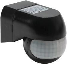 PIR-Bewegungsmelder schwarz 180° Innen + Außen LED geeignet max.12m 1-800W SLIM