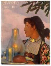 """Kellnerin-Bayern-Tracht-Gastronomie - Titelblatt aus Münchner """"JUGEND"""" 1906"""