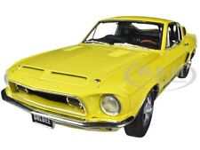 1968 FORD SHELBY MUSTANG GT350 YELLOW WT 6066 RELEASE #2 1/18 BY ACME A1801806