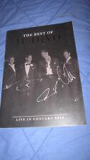 The Best of IL Divo 2013 tour VIP souvenir collectible autographed program
