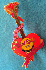 PROTOTYPE SAN DIEGO VALENTINES DAY RED ROSE & HEART GUITAR 01 Hard Rock Cafe PIN