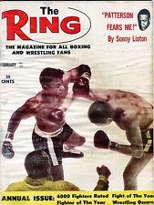 The Ring Boxing Magazine February 1962 Sonny Liston VG No ML 100516jhe