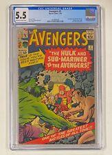 AVENGERS #3 Marvel Comics 1964 CGC 5.5 Sub-Mariner & Hulk 1st Team-Up