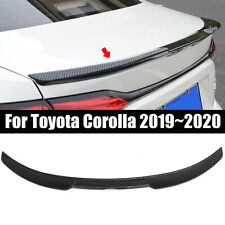 For Toyota Corolla 2020 Carbon Fiber Look Rear Tail Trunk Spoiler Wing Lip Trim