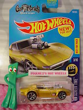 NEW! '68 CORVETTE GAS MONKEY GARAGE #99✰Gold✰Screen Time✰2017 Hot Wheels case F