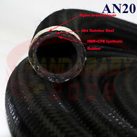 AN20 20AN -20 AN-20 TRANSIMISSION OIL FUEL LINE GAS RADIATOR NYLON HOSE 1FOOT BK