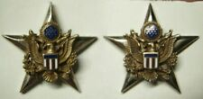 WW2 US Army General Staff Corps Officer Insignia Pair - Amico Maker - CB