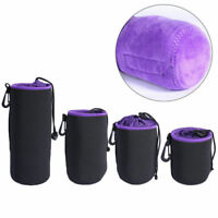 S/ M/L/XL DSLR Camera Lens Pouch Waterproof Case Bag For Nikon Leica Sony Pentax