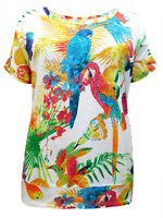 Woman Within ladies tshirt top parrot print plus size 20/22, 24/26 28/30 cotton