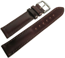 22mm Fluco Brown Horween Shell Cordovan German Made Leather Watch Band Strap