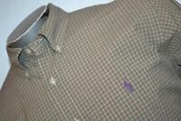 9094-a Mens Polo Ralph Lauren Dress Shirt Size Large Green Plaids