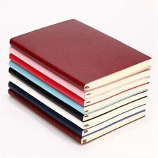 6 Color Random Soft Cover PU Leather Notebook Writing Journal 100 Page Line J4K4