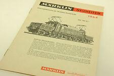 (63/017) Märklin Katalog Neuheiten 1964 / sehr guter Zustand
