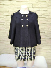 Designer DOTTI Womens Black Knit Cape Cardigan Jumper Jacket ~ Size S ~ NEW