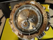 Invicta 27692 50mm Rosetone Subaqua Noma V Swiss Chrono Silicone Strap Watch NEW