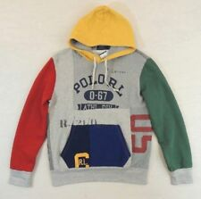 NWT Limited Edition Polo Ralph Lauren Stadium Patchwork Pullover Fleece Hoodie M