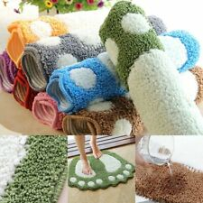 Bathroom Rug Bath Pad Foot Print Bath Mats Non Slip Bathroom Mat Toilet Carpets