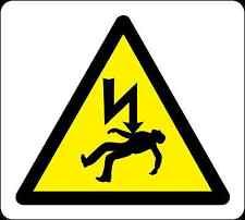 Salute e sicurezza Avvertimento Adesivo di avviso giallo pericolo di morte Adesivo